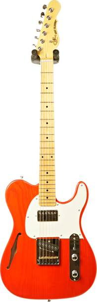 G&L Tribute ASAT Classic Bluesboy Semi-Hollow Clear Orange Cream Pickguard MN