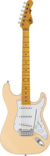 G&L Tribute S-500 Vintage White White Pickguard MN