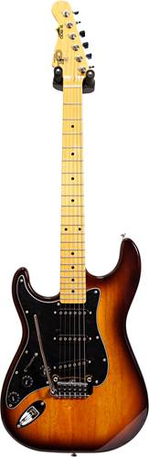G&L Tribute S-500 Tobacco Burst Black Pickguard MN LH