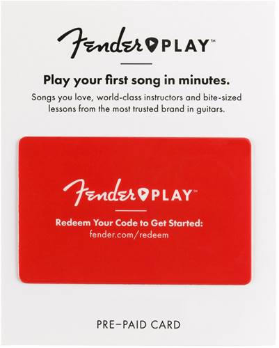 Fender Play 6 Month Prepaid Card - Save 17%!