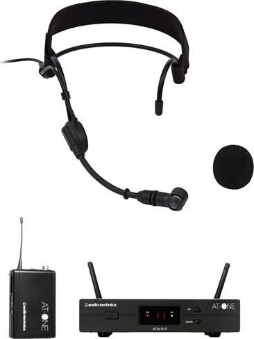 Audio Technica ATW-11F Wireless System with PRO9CW Headworn Condenser Microphone