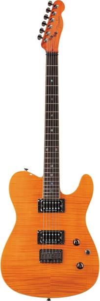 Fender Custom Telecaster FMT HH Amber Indian Laurel Fingerboard
