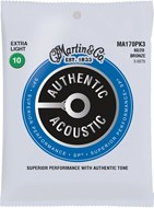 Martin Authentic Acoustic - SP - 80/20 Bronze 3 Pack Extra Light (10-47)