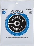 Martin Authentic Acoustic - SP - 80/20 Bronze 3 Pack Medium (13-56)