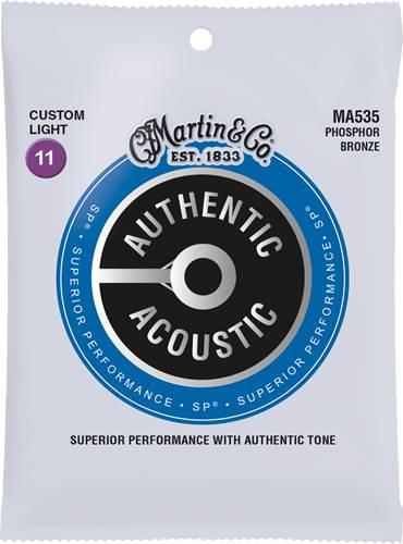 Martin Authentic Acoustic - SP - Phosphor Bronze Custom Light (11-52)