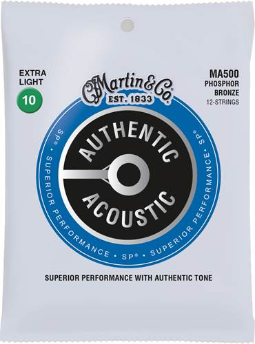Martin Authentic Acoustic - SP - Phosphor Bronze 12 String Extra Light (10-47)