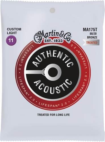 Martin Authentic Acoustic - LifeSpan 2.0 - 80/20 Bronze Custom Light (11-52)