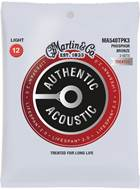 Martin Authentic Acoustic - LifeSpan 2.0 - Phosphor Bronze 3 Pack Light (12-54)