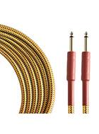 TOURTECH TTGC-10-BTW-SS 3m/10ft Braided Tweed  Straight Guitar Cable