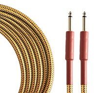 TOURTECH TTGC-20-BTW-SS 6m/20ft Braided Tweed  Straight Guitar Cable