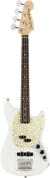 Fender American Performer Mustang Short Scale Bass Arctic White Rosewood Fingerboard