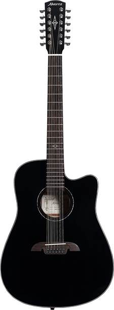 Alvarez Artist Series AD60-12CEBK Dreadnought 12 String Black