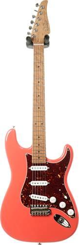Suhr guitarguitar select No140 Custom Classic Fiesta Red AAAAA Birdseye MN