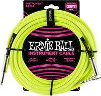 Ernie Ball 25Ft Straight-Angle Braided Neon Yellow