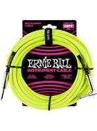 Ernie Ball 25Ft Straight-Angle Braided Neon Yellow