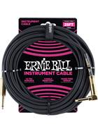 Ernie Ball 25Ft Straight-Angle Braided Black