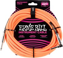 Ernie Ball 25Ft Straight-Angle Braided Neon Orange