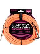 Ernie Ball 25Ft Straight-Angle Braided Neon Orange