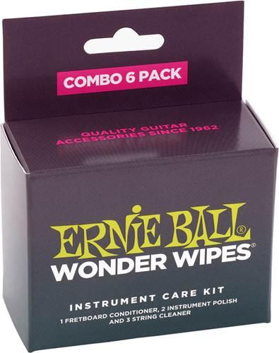 Ernie Ball Wonder Wipes Combo 6-Pack