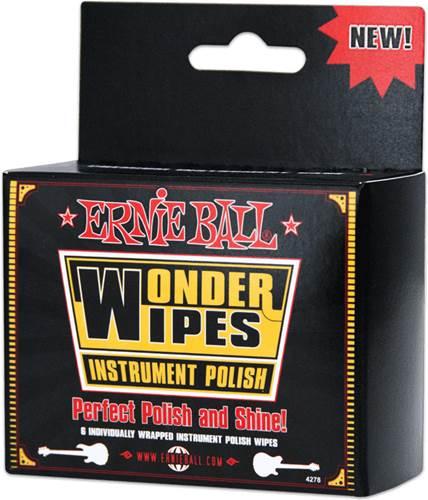 Ernie Ball W/Wipe Instrument Polish 6-Pack