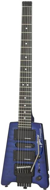 Steinberger Spirit GT-PRO Quilt Top Deluxe Outfit (HB-SC-HB) Translucent Blue