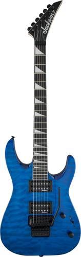 Jackson JS32Q Dinky Arch Top Trans Blue Amaranth Fingerboard
