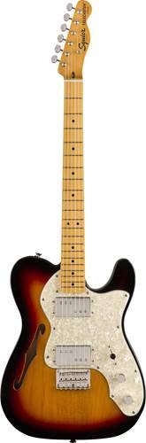 Squier Classic Vibe 70s Tele Thinline 3 Tone Sunburst MN