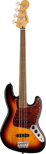 Squier Classic Vibe 60s Fretless Jazz Bass 3 Tone Sunburst IL