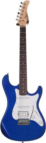EastCoast GS100H Ocean Metallic Blue PH HSS White Scratch Plate