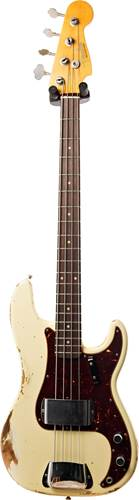 Fender Custom Shop 2019 Heavy Relic 1960 Precision Bass  2019 Custom Collection Time Machine Aged Vintage White