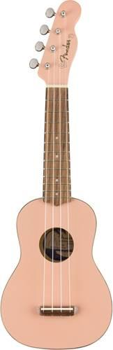 Fender Venice Soprano Ukulele Shell Pink Walnut Fingerboard