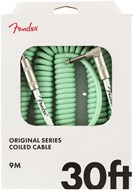 Fender Original Series 30ft Coil Cable, Surf Green