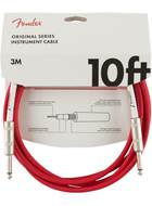 Fender Original Series 10ft Instrument Cable, Fiesta Red