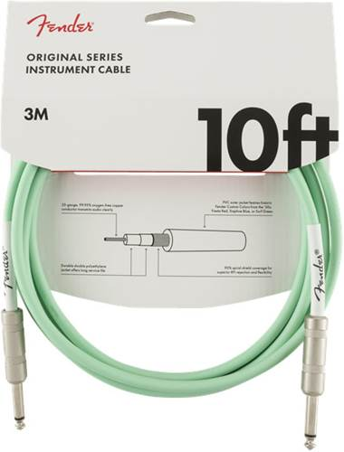 Fender Original Series 10ft Instrument Cable, Surf Green