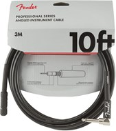 Fender Professional Series 10ft Straight/Angled Instrument Cable, Black