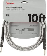 Fender Professional Series 10ft Instrument Cable,  White Tweed
