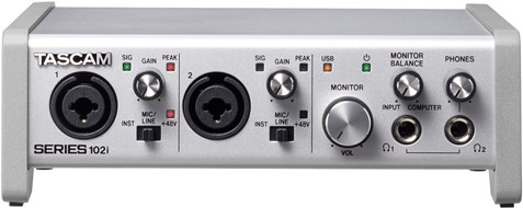 Tascam Series 102i Audio Interface with DSP Mixer