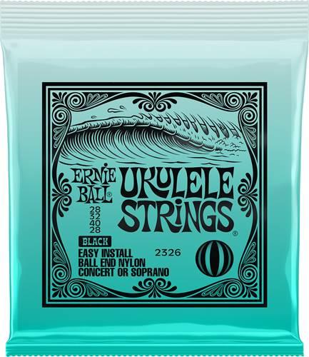 Ernie Ball 2326 Black Ukulele Strings (Concert or Soprano)