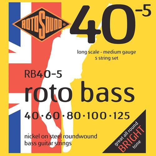 Rotosound RB40-5 Rotobass Hybrid 5 String Nickel Set 40-125