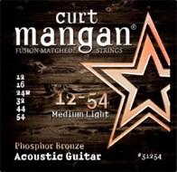 Curt Mangan 31254 Phosphor Bronze Acoustic Medium Light 12-54