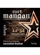 Curt Mangan 31254 Phosphor Bronze Acoustic Medium Light 12-54
