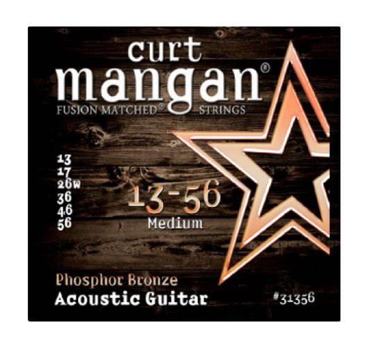 Curt Mangan 31356 Phosphor Bronze Acoustic Medium 13-56