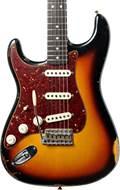 Fender Custom Shop 1963 Strat Relic Faded 3 Colour Sunburst RW LH #R96917