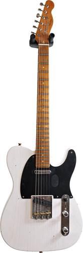 Fender Custom Shop 1953 Tele Journeyman Relic White Blonde Maple Fingerboard Master Builder Designed by Paul Waller #R99359
