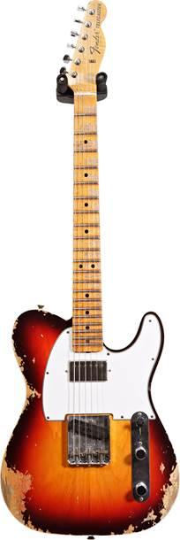 Fender Custom Shop 1967 Tele Heavy Relic Chocolate 3 Tone Sunburst Maple Fingerboard Master Builder Designed by Dennis Galuszka #R97578
