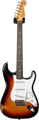Fender Custom Shop 1965 Stratocaster Relic 3 Tone Sunburst Rosewood Fingerboard Masterbuilt by Kyle McMilin #R97930