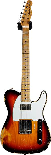 Fender Custom Shop 1967 HS Tele Heavy Relic Chocolate 3 Tone Sunburst AA Flame MN Masterbuilt by Dennis Galuszka #R97639