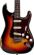 Fender Custom Shop 1963 Strat Relic Faded 3 Tone Sunburst RW #R97808