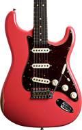 Fender Custom Shop 1963 Strat Relic Faded Fiesta Red RW #R96682