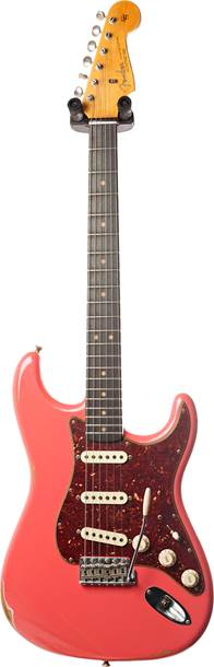 Fender Custom Shop 1963 Stratocaster Relic Faded Fiesta Red RW
